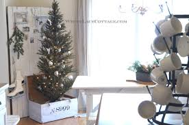 Kitchen Christmas Tree Kitchen Christmas Tree In A Trunk White Lace Cottage