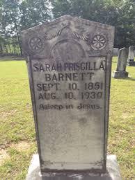 Sarah Priscilla Barnett (1851-1930) - Find A Grave Memorial