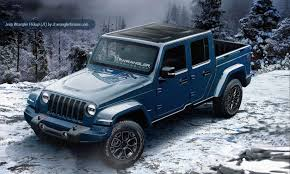 reports jeep wrangler pickup ion starts sept 2018 and will e in 2 and 4 door models