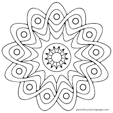 Small Picture Easy Geometric Coloring Pages olegandreevme
