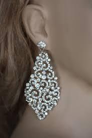 bridal earrings swarovski crystal earrings wedding chandelier large bridal earrings