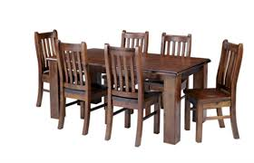 dining table png. felton 1.8 solid pine wood dining table + 6 chairs combo png