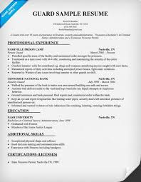 Security Guard Resume Sample Awesome Download Security Guard Resume Sample Resumes Example Resumes Www