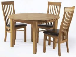 3 seater round solid wooden dining set