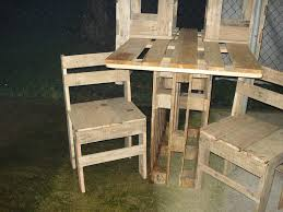 furniture made from wooden pallets. Two Pallet Chair Set Furniture Made From Wooden Pallets