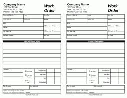 40 Work Order Template Free Download Word Excel Pdf