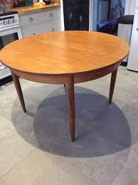 retro vintage round extendable dining table and chairs