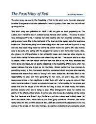 the short story we is the possibility of evil in this short  page 1 zoom in
