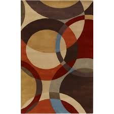 photo 5 of 7 contemporary area rugs 9 x 12 square red brown blue cream circle blue and brown