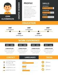 Infographic Resume Template Powerpoint Free Download Word Cv ...