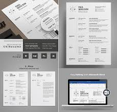 Free Professional Resume Templates Adorable 60 Professional MS Word Resume Templates With Simple Designs