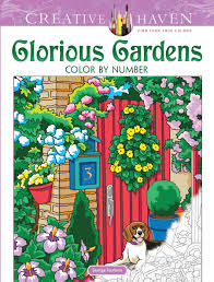 Creative Haven Floral Design Color By Number Coloring Book Amazon Com Creative Haven Glorious Gardens Color By Number