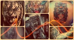 значение тату оскал тигра информация про смысл и фото классных