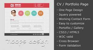 symplicity cv portfolio page - Resume Portfolio Examples