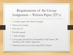Group Assignment Requirements Ppt Download