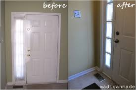 top sidelight window treatments with remodelaholic adding privacy to sidelights faux stained glass diy 24
