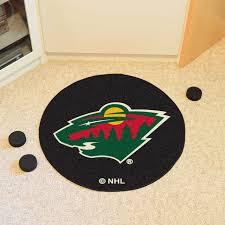minnesota wild hockey puck area rug