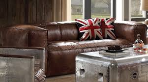industrial style living room furniture. brancaster sofa retro brown industrial style living room furniture t