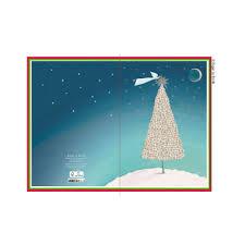 Weihnachtskarte Weihnachtsbaum Mit Engel
