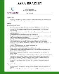 Veterinary Technician Resume Sample 2 And Emergency Erin