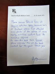 Flu Doctors Note A Fake Doctors Note Can Be Great Tool To Get Out Of Work Or School