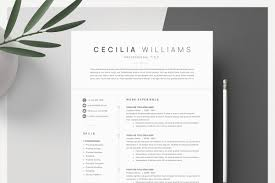 Clean Modern Resume Template Resume Templates Creative Market
