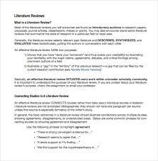 Literature Review Outline Literature Review Writing Samples Books On Literature