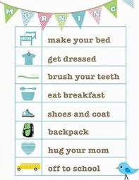 Details About A5 Print Children S Morning Routine Reward Chart Includes Smiley Face Stickers