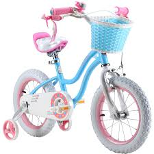RoyalBaby Stargirl Girl\u0027s Bike with Training Wheels and Basket, Perfect Gift for Kids, 12-Inch, 14-Inch, 16-Inch, Blue/Pink Top 10 Best Girls\u0027 Bikes 2017 - Value Reviews