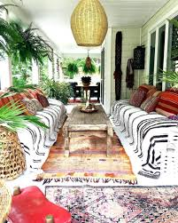 eclectic outdoor furniture. Patio Ideas: Summer Porch Full Of Eclectic Bohemian Vibes Moroccan Rugs Stripes Boho Outdoor Space Furniture O