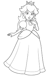 Genuine Princess Peach Coloring Pages To Download And Print For Free