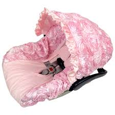 car seat baby girl opy cover pink stroller and cat roses infant infanti coprisedili covers blanket seats strollers set combo carrier foot target tee