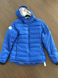 Wholesale Canada Goose Blue Pbi Camp Hooded Lightweight Down Coat