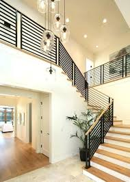 high ceiling lighting contemporary living room