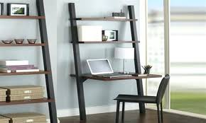 leaning shelves with desk leaning shelf desk plans decorative desk decoration with regard to leaning wall