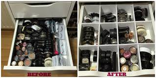 so tell me are you inspired to go out now and diy up some of your own drawer dividers are there any other makeup storage tips that you would like to