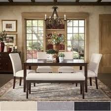 pranzo rectangular extending dining table and set with baer legs by inspire q clic set grey linen w 4 chairs 1 bench size sets