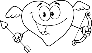 cute love coloring page to print of happy heart for kids ...