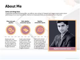 Powerpoint Resume Templates Gorgeous Cv Powerpoint Presentation