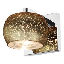galaxy one light vanity fixture mirrored stainless steel