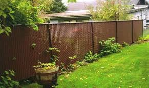 chain link fence slats brown. Chain Link With Brown Privacy Slats For Side Of Backyard Fence C