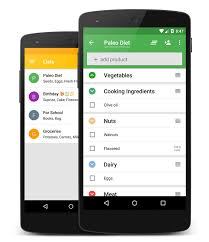 Grocery Store Product List Capitan Grocery Shopping List App