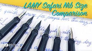 Lamy Safari Fountain Pen Nib Size Comparison
