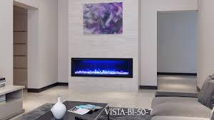 vista bi 50 7 electric fireplace sierra flame