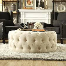 tufted coffee table ottomans charming round upholstered coffee table with best round tufted ottoman ideas on