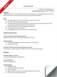 sample pta resume create my resume sample physical therapy curriculum vitae  .