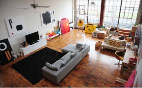 ... Multipurpose Living Room Ideas with Wooden Floor and Black Carpet