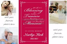 Loving Memory Photo Collage For Funeral Memorial Service Template
