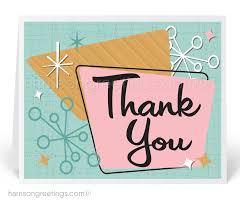 Business Thank You Note Cards Retro Thank You Note Cards 1311 Harrison Greetings Business