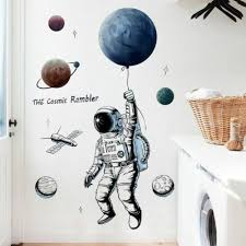 astronaut wall sticker outer space